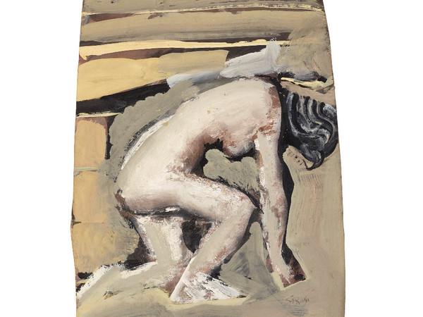Mario Sironi, Nudo bianco, 1946-47,  tempera su tavola. Mart Rovereto, Collezione Allaria