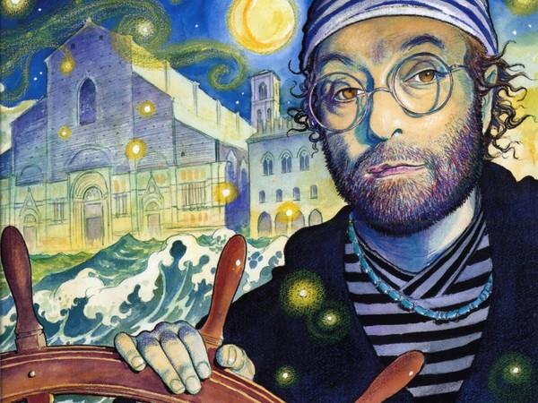 Lucio Dalla, 12000 lune. Copertina di Milo Manara