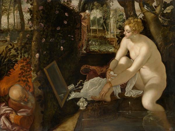 Tintoretto, <em>Susanna e i vecchioni</em>, 1555 circa, Olio su tela, 194 x 147 cm, Vienna, Kunsthistorisches Museum, Gem&auml;ldegalerie | <em>Tintoretto 500</em><br /><br />