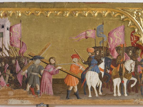 Mariano d'Antonio, Particolare Andata al Calvario, Crocefissione, Deposizione. Perugia, Galleria Nazionale dell'Umbria