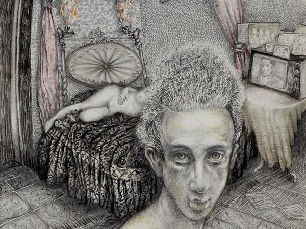 Momò Calascibetta, La casa dell'infanzia, cm 28×35, disegno a matita, 2017