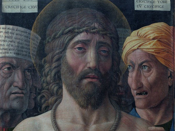 Andrea Mantegna, Ecce Homo, 1500 ca., tempera su tela montata su tavola, 54,7x43,5 cm.