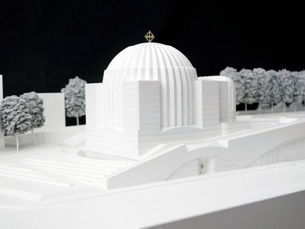 Model of St. Nicholas Greek Orthodox Church, 2013. New Model in progress (scala 1:20). Legno, plexiglas, polystyrene, metal. © Studio Calatrava