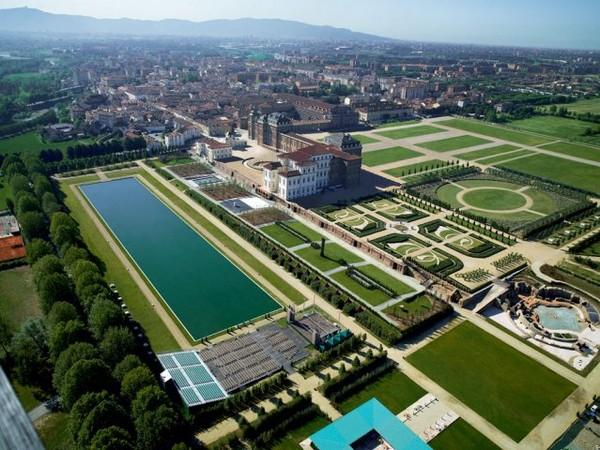 Veduta aerea della Reggia di Venaria Reale, Torino.