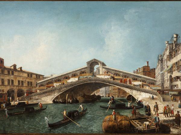 Michele Marieschi, Ponte di Rialto, olio su tela, 56 x 87 cm. Milano, collezione privata