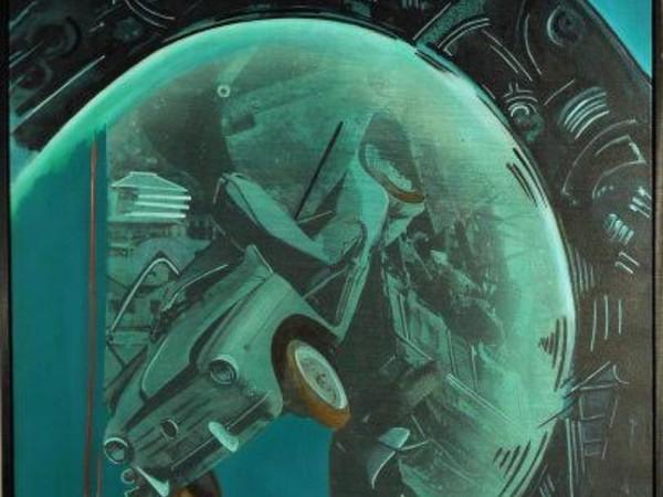 Gianni Bertini, La schute de Vulcan, olio su tela, cm 92x73, 1998