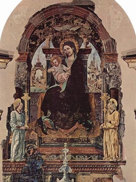 Madonna in trono con due angeli
