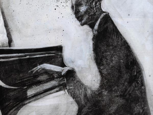 Luca Serio, Senza titolo, 2017, tecnica mista su carta, 29x23