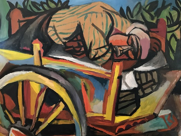 Renato Guttuso, Carrettiere siciliano addormentato, 1946, olio su carta intelata, cm. 75x100