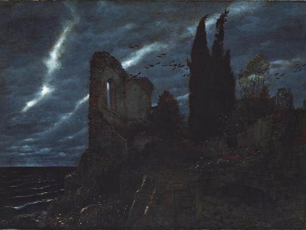 Arnold Böcklin, Ruine am Meer (Rovina sul mare), 1880. Olio su tela