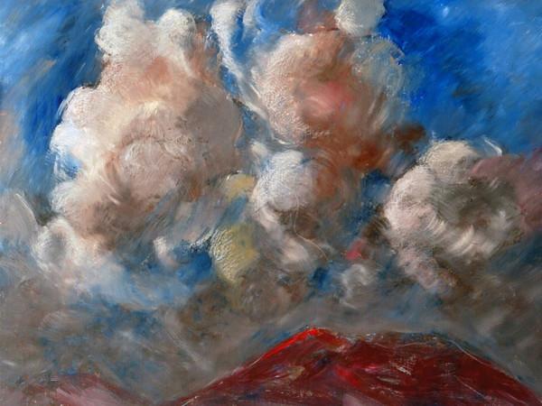 Carlo Montarsolo, Nuvole tempestose sul vesuvio, 1981, olio su tela, 60x80 cm.