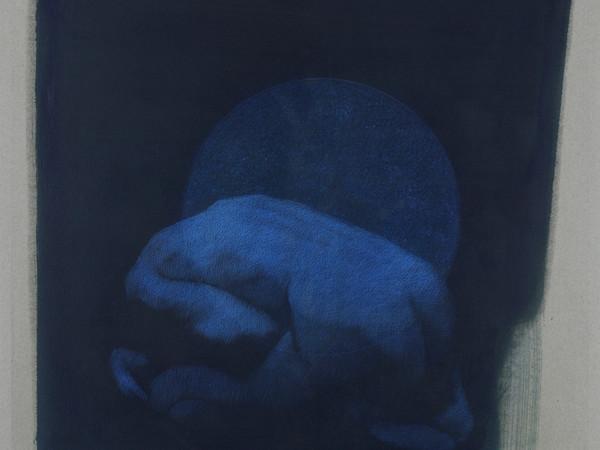 Simone Geraci, Echos, 2019, tecnica mista su carta lana, 50 x 50 cm.