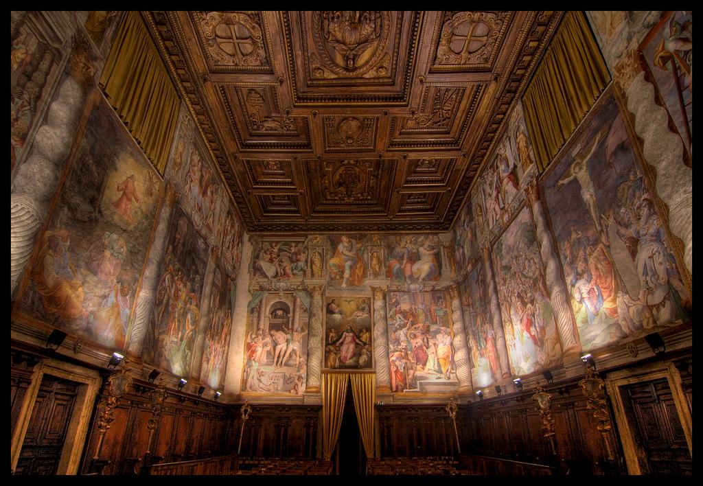 Oratorio del gonfalone di descrizione dell 39 opera e - Gonfalone mobili roma ...