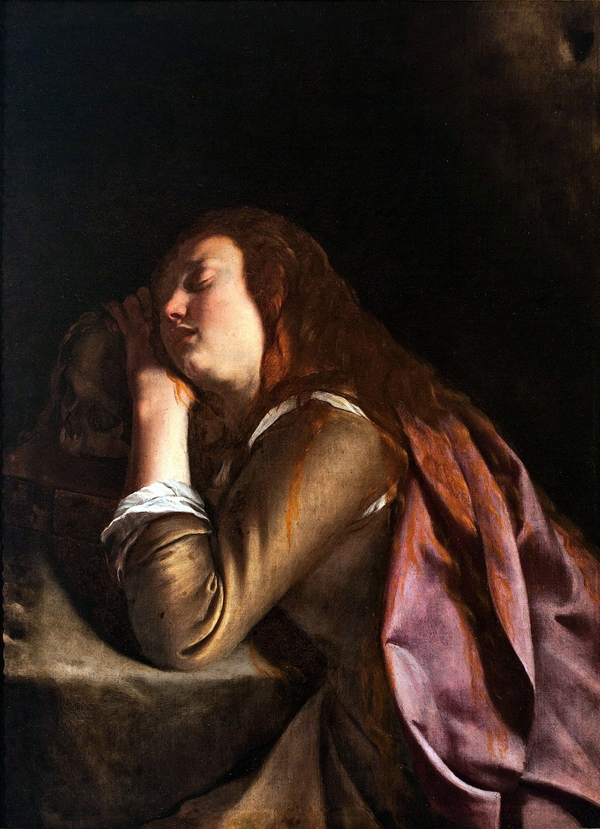 Artemisia Gentileschi, Penitent Magdalene, 1627-1629, Oil on canvas, Museo Correale di Terranova, Sorrento