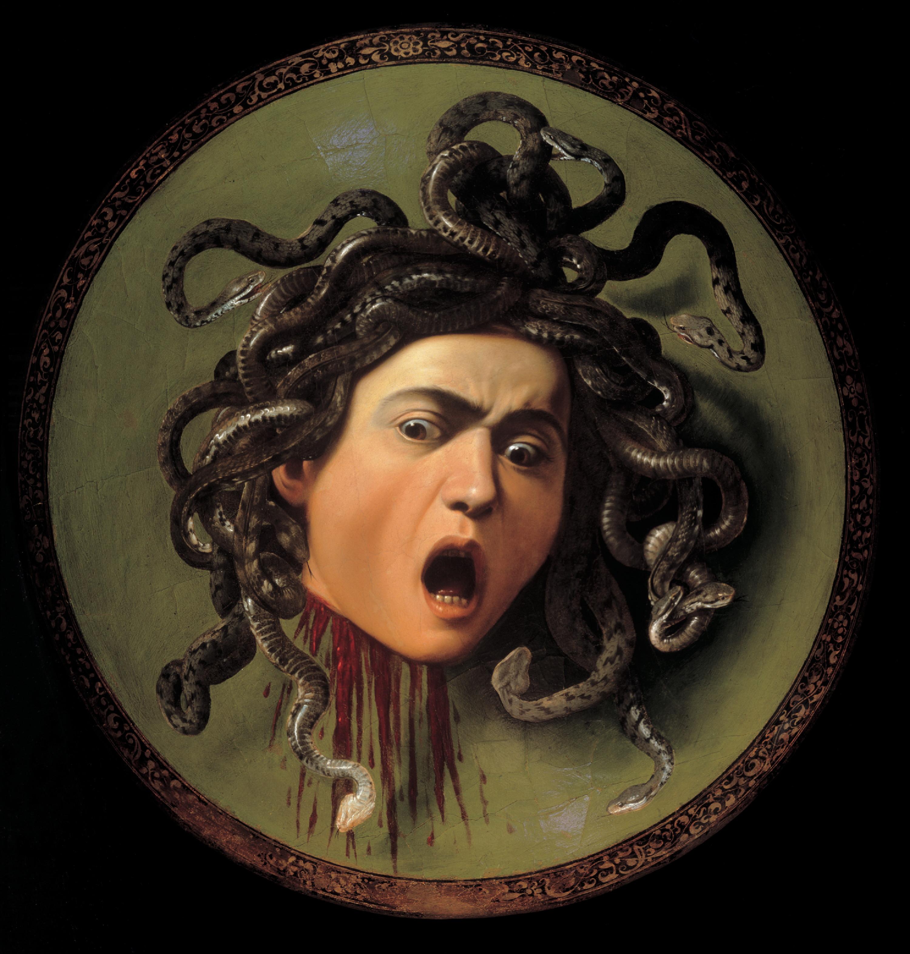Caravaggio su ex abrupto for Medusa da colorare