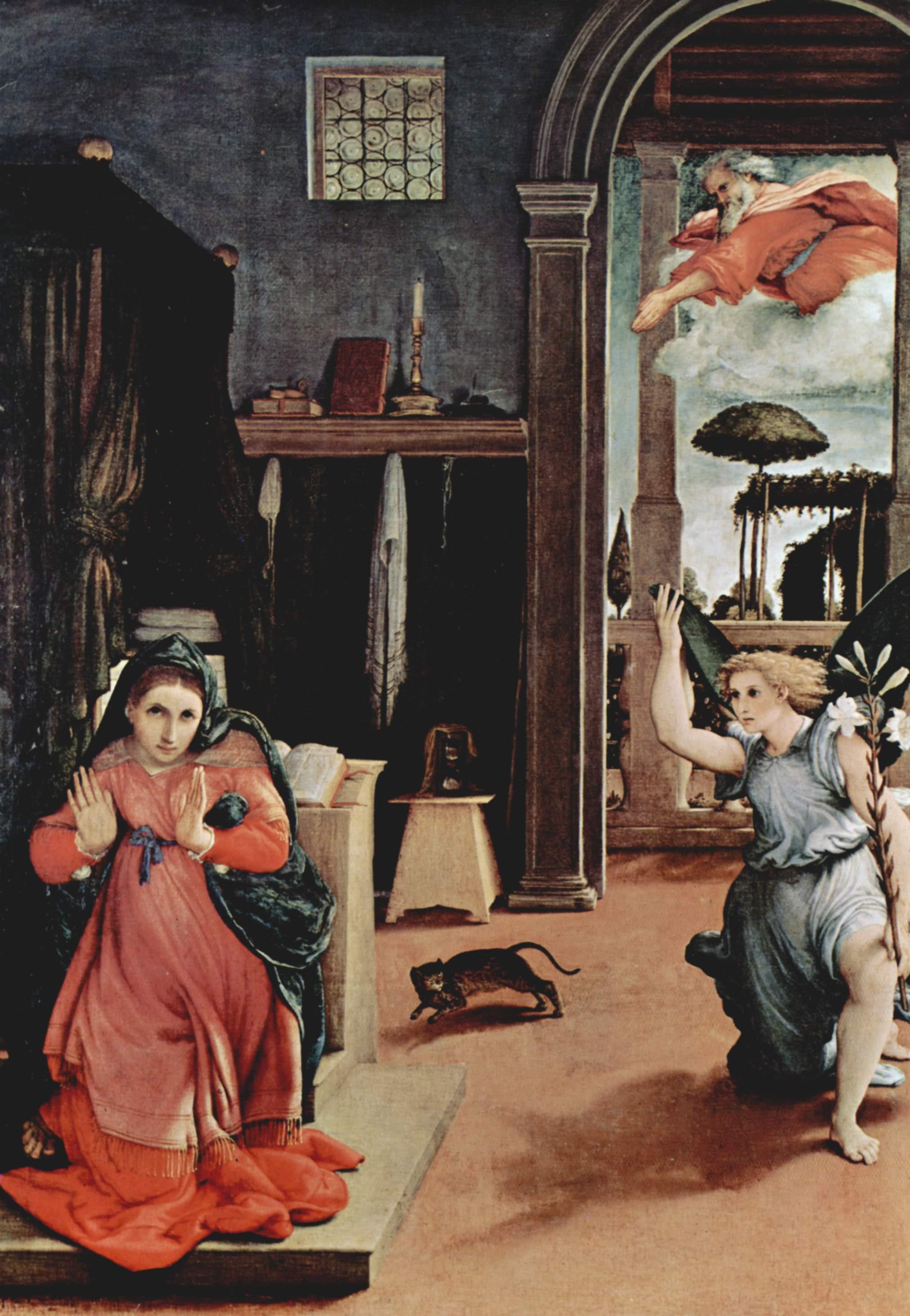 Annunciazione di lorenzo lotto descrizione dell 39 opera e for Mostre d arte in corso