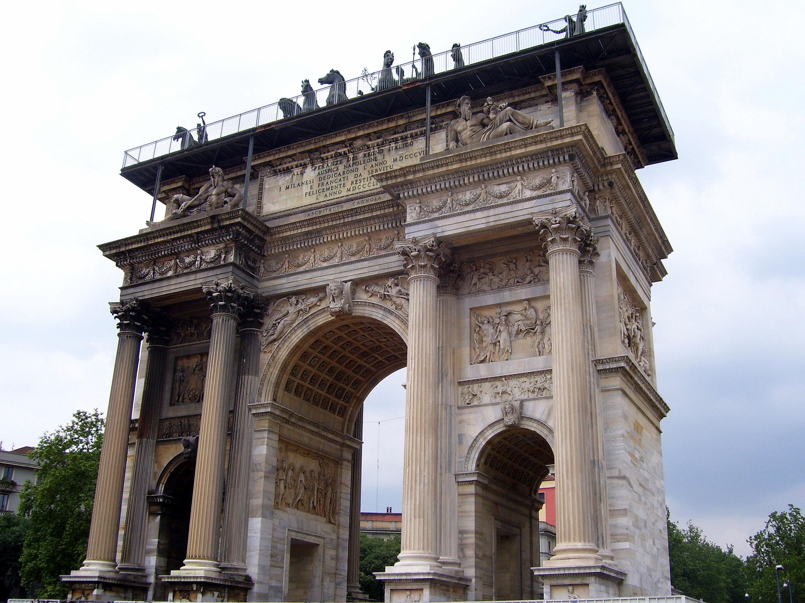 Arco della pace di descrizione dell 39 opera e mostre in for Mostre d arte in corso