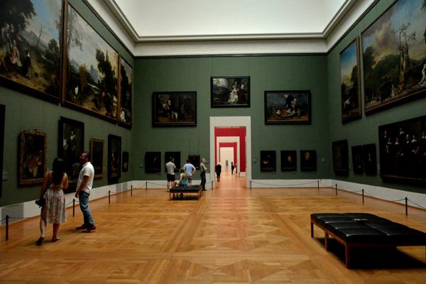 Un corridoio della Alte Pinakothek | Foto: Giorgia Bombino © ARTE.it 2017