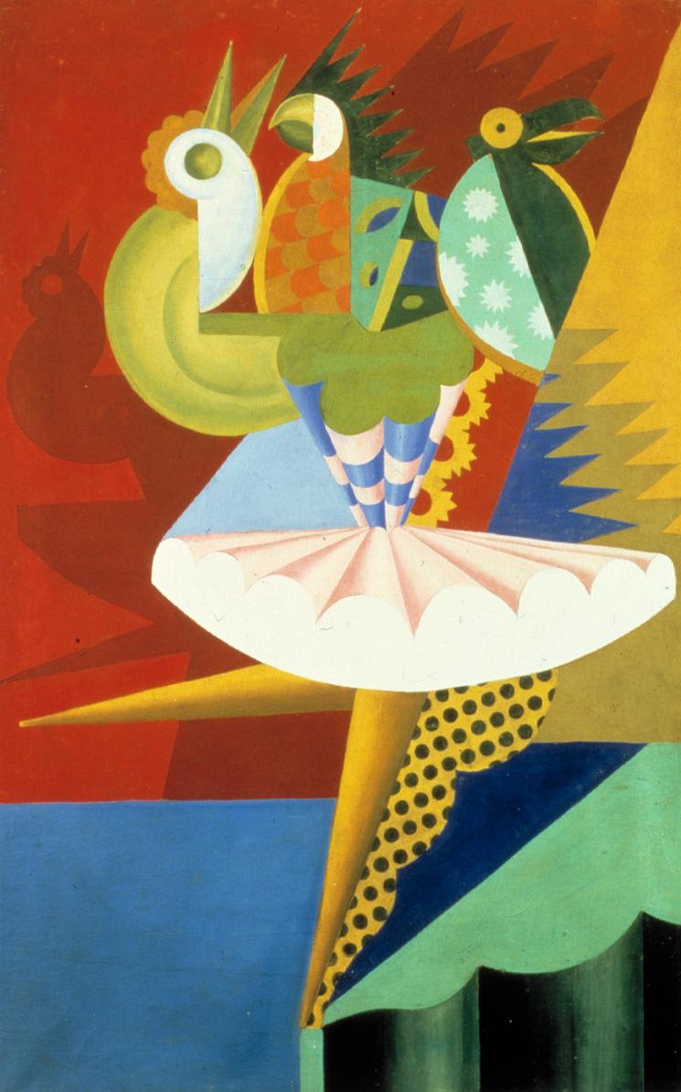 Rotazione di ballerina e pappagalli di fortunato depero for Mostre d arte in corso