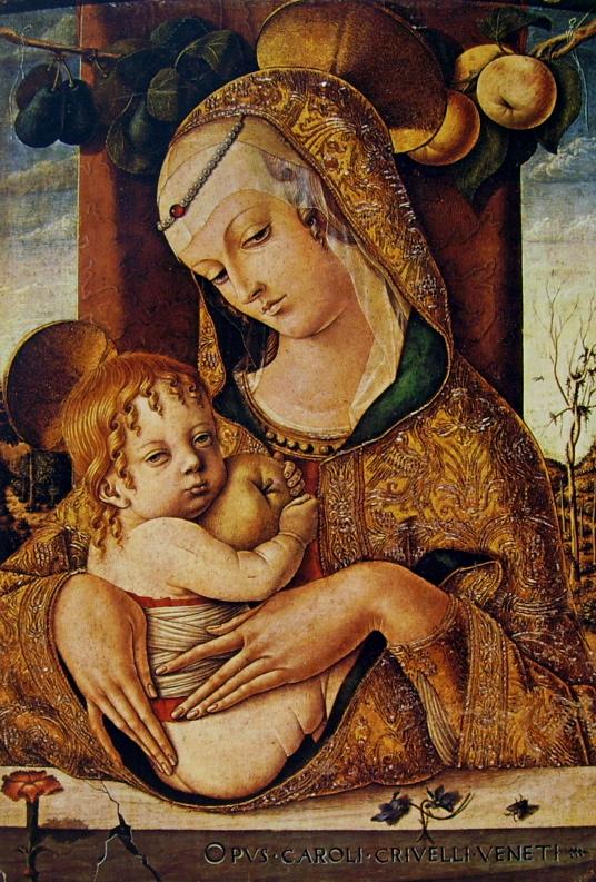 Madonna con bambino di carlo crivelli descrizione dell for Mostre d arte in corso