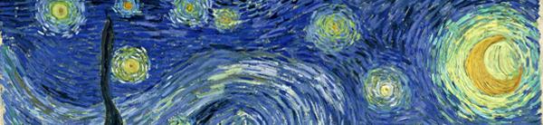 Vincent van Gogh, Notte stellata, 1889, Particolare