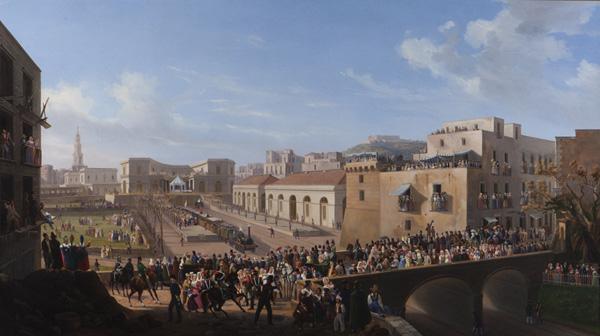 L'inaugurazione della ferrovia Napoli - Caserta