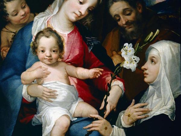 Alessandro Casolami, S. Famiglia con S. Giovannino e S. Caterina d'Alessandria Chigi